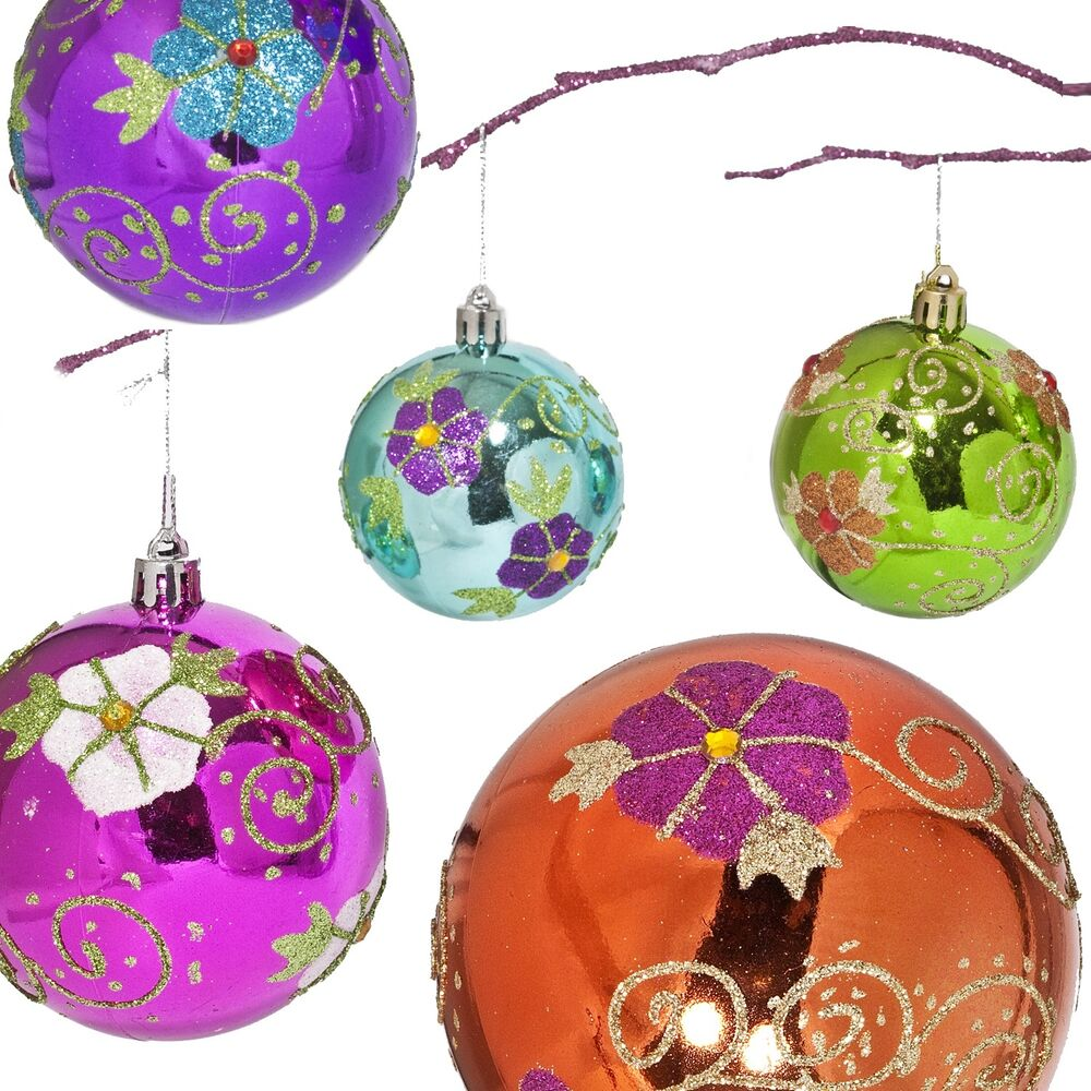 Shatterproof Christmas Ornaments Sets Multiple Colors ...