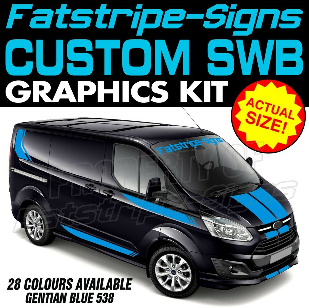 Details about ford transit custom swb graphics stickers stripes decals st m sport day van 1