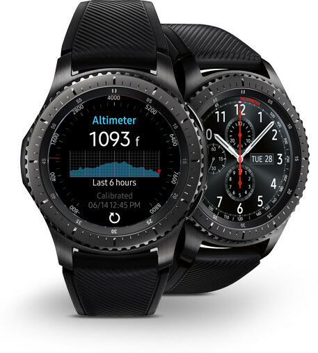 mint samsung galaxy gear s3 frontier 46mm watch stainless. Black Bedroom Furniture Sets. Home Design Ideas