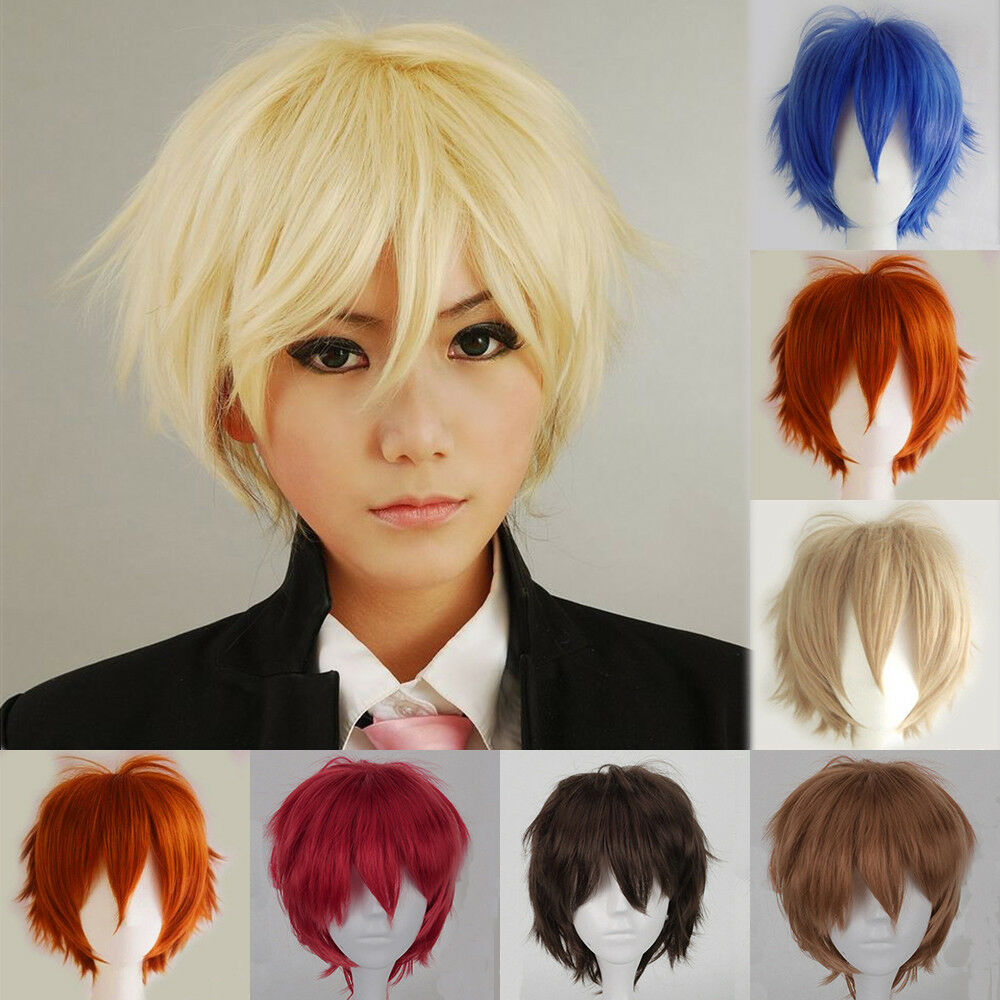 Hot Anime Wig Short Straight Hair Cosplay Heat Resistant ...