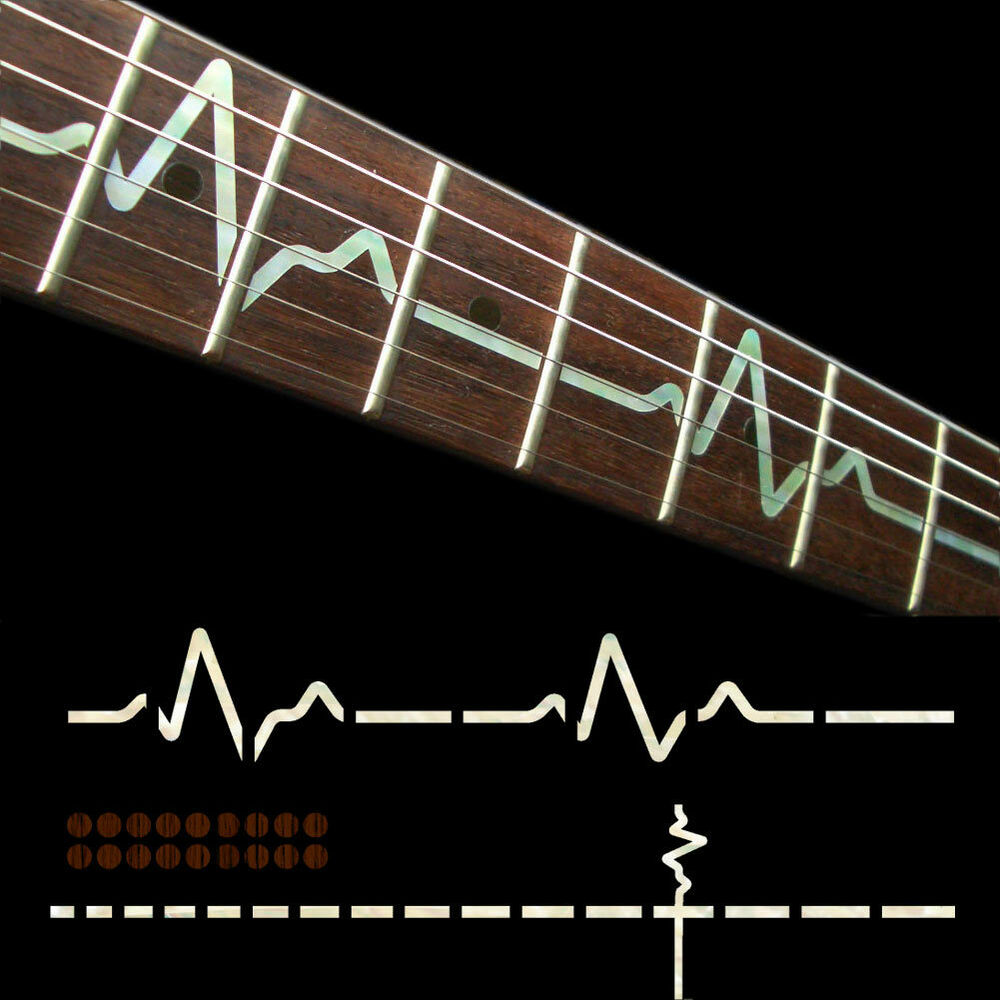 fret markers inlay sticker decal for guitar neck ekg