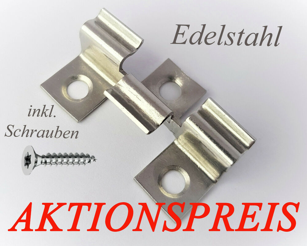 edelstahl terrassenclips befestigungs clips klammer wpc dielen terrassendielen ebay. Black Bedroom Furniture Sets. Home Design Ideas