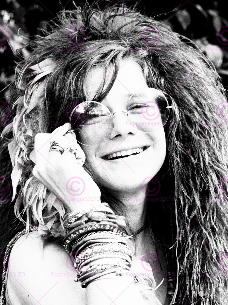 This is a graphic of Wild Janis Joplin Drawing