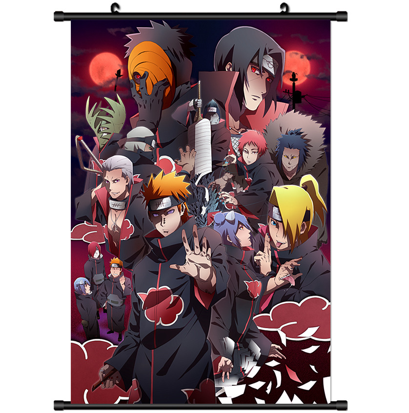 Anime Naruto Akatsuki Home Decor Wall Scroll Poster