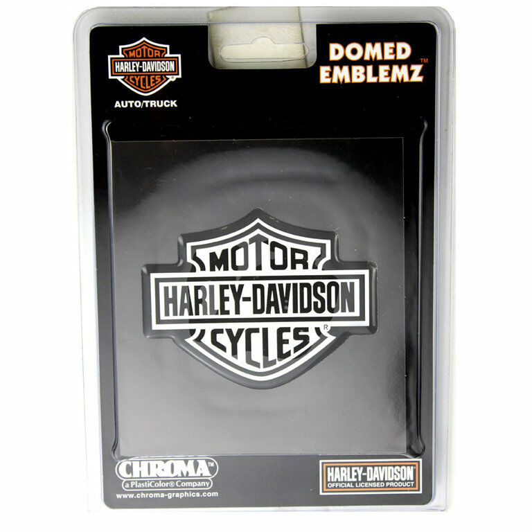 original harley davidson hd logo chrom domed emblem. Black Bedroom Furniture Sets. Home Design Ideas
