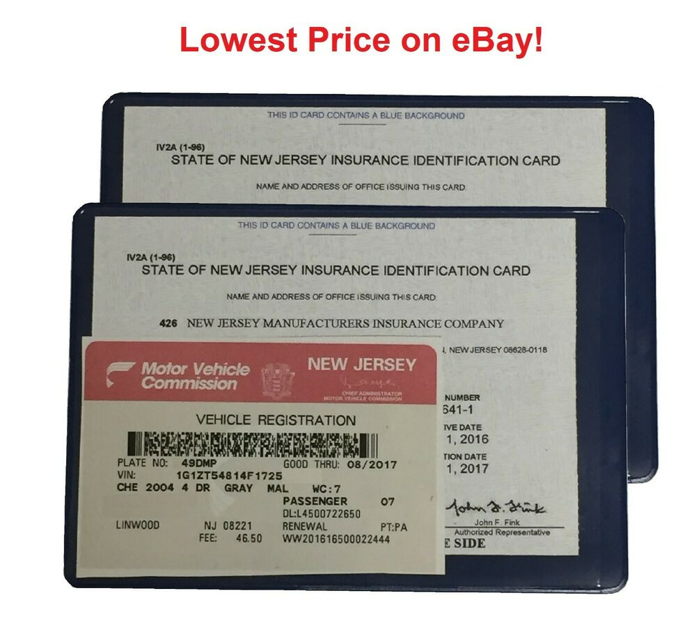 2 Two Auto Car Insurance Registration Id Card Holders Holder Ebay