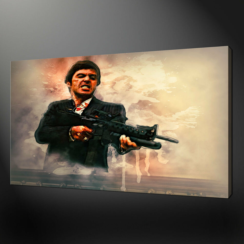 TONY MONTANA SCARFACE CANVAS PRINT PICTURE WALL ART FREE UK DELIVERY ...