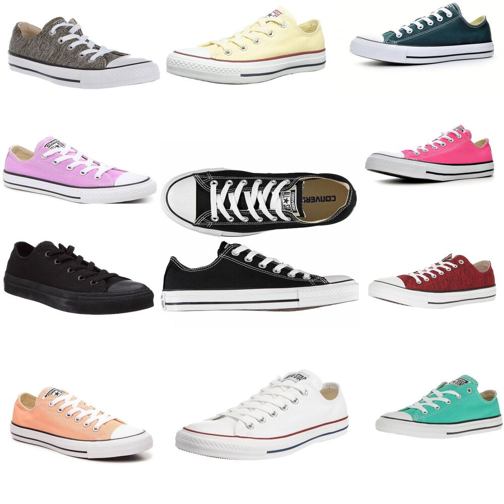 4b77088071e3 Womens Converse Shoes All Star Chuck Taylor Unisex Low Top Classic Sneakers  NEW