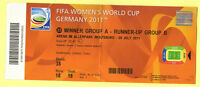 Orig.ticket     Woman`s World Cup Germany 2011      GERMANY - JAPAN    1/4 Final