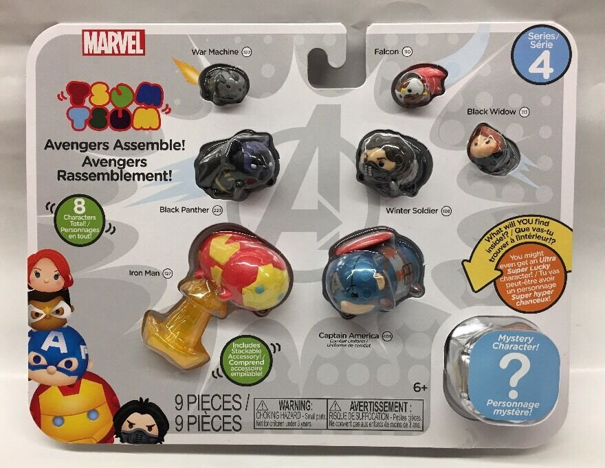 marvel tsum tsum series 4 avengers assemble 9 packs 39897055749 ebay. Black Bedroom Furniture Sets. Home Design Ideas