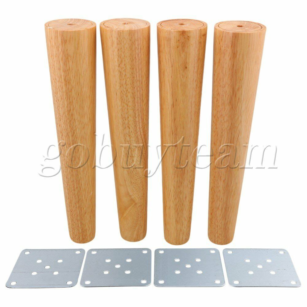 Details about 4 pcs 30cm height wood tapered furniture feet sofa tea table legs