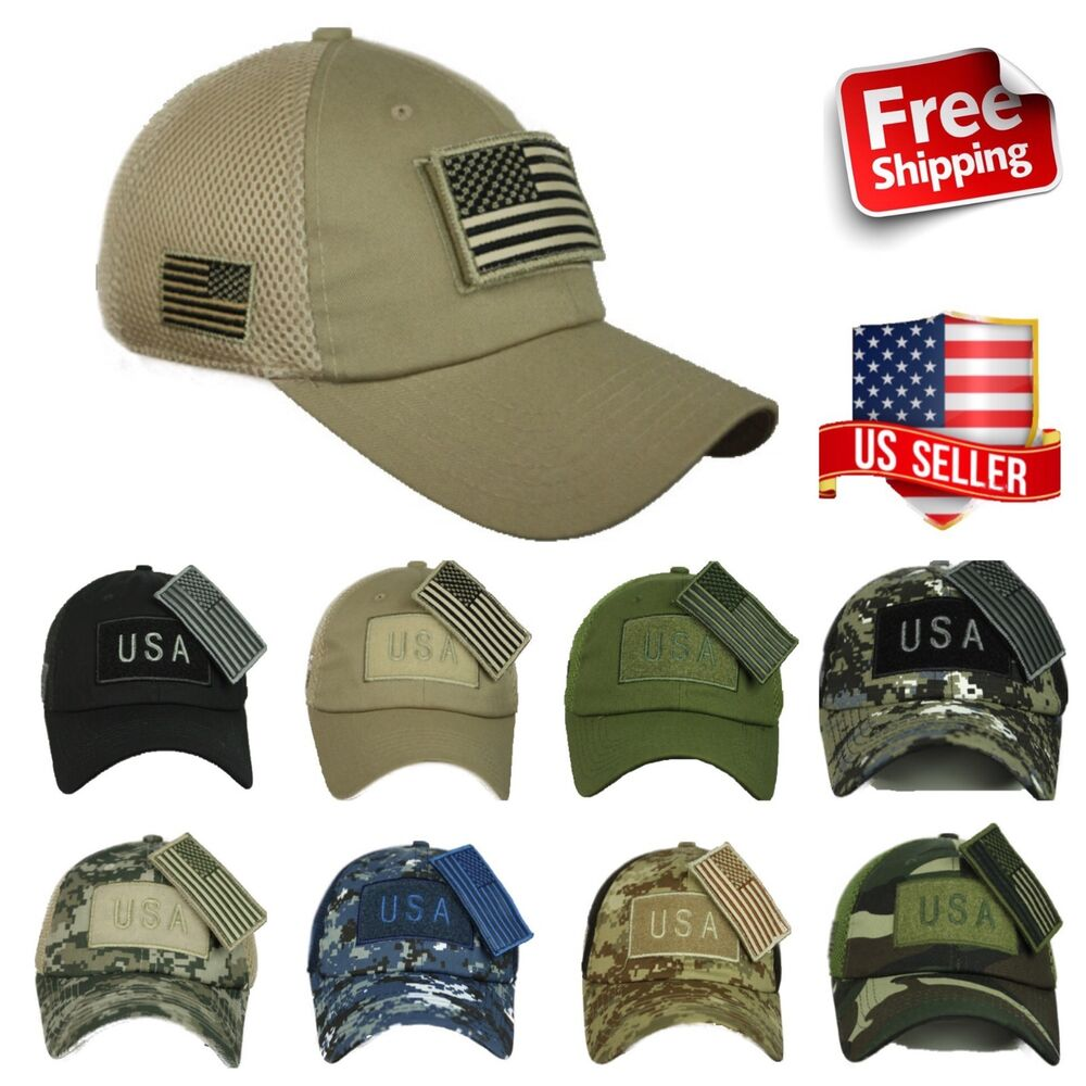 Details about USA American US Flag Baseball Cap Mesh Trucker Tactical  Operator Army Camo Hat c569a42ea43c