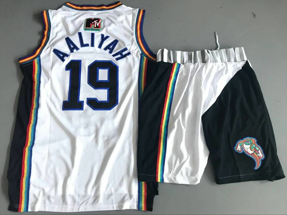 a69f3dfc736e Aaliyah  19 Bricklayers Basketball Jersey 1996 MTV Rock ALL Stitched Cheap