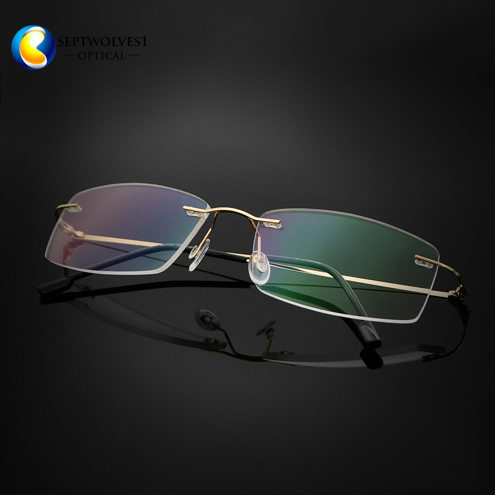 bbc5038bfb Details about Rimless Memory Titanium Ultra Light Eyeglasses Frame  Spectacles Optical RX Able