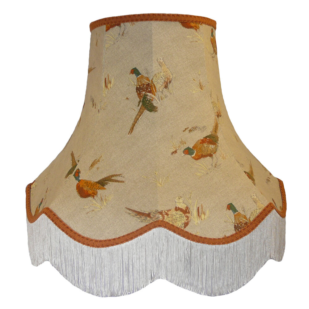 Pheasant Fabric Lampshades Wall Lights Table Floor