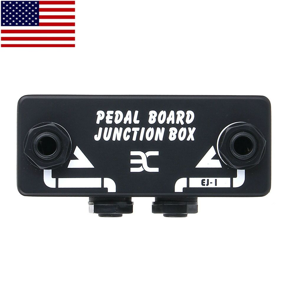 ex stompbox guitar pedal board junction box signal split pedal board patchbay 691044671372 ebay. Black Bedroom Furniture Sets. Home Design Ideas