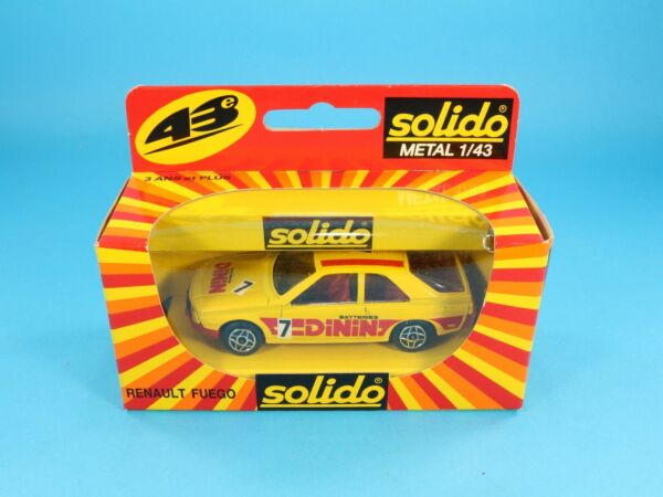 1/43 SOLIDO N. 1203 RENAULT FUEGO BATTERIES DININ FONDO MAGAZZINO NIB [PS3-037]