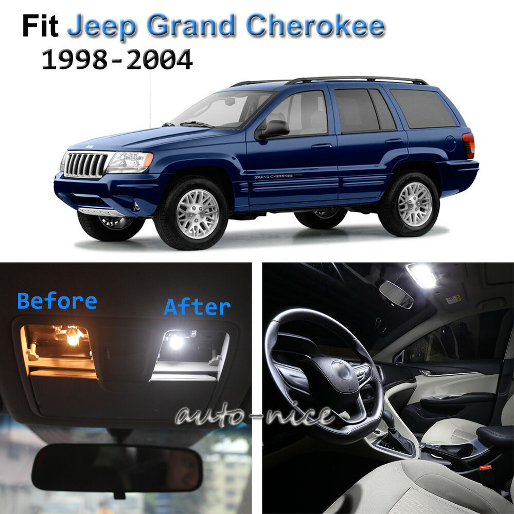 Details About 11x Xenon White Led Interior Lights Kit For 1998 2004 Jeep Grand Cherokee