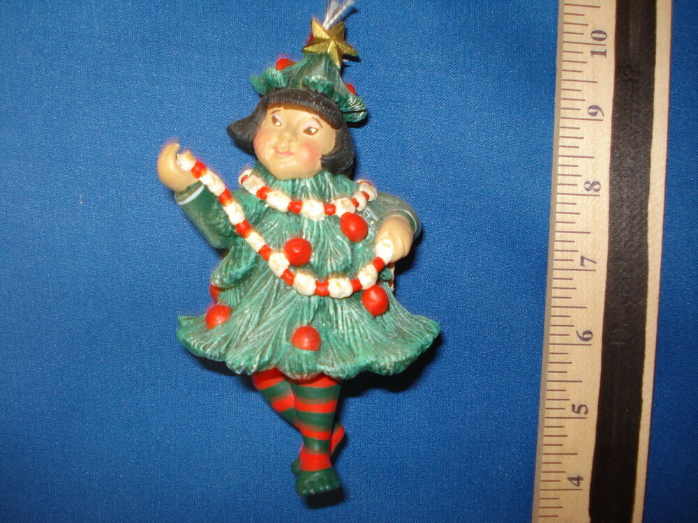 Sugar Plum Fairy Ornament Dressed As A Christmas Tree