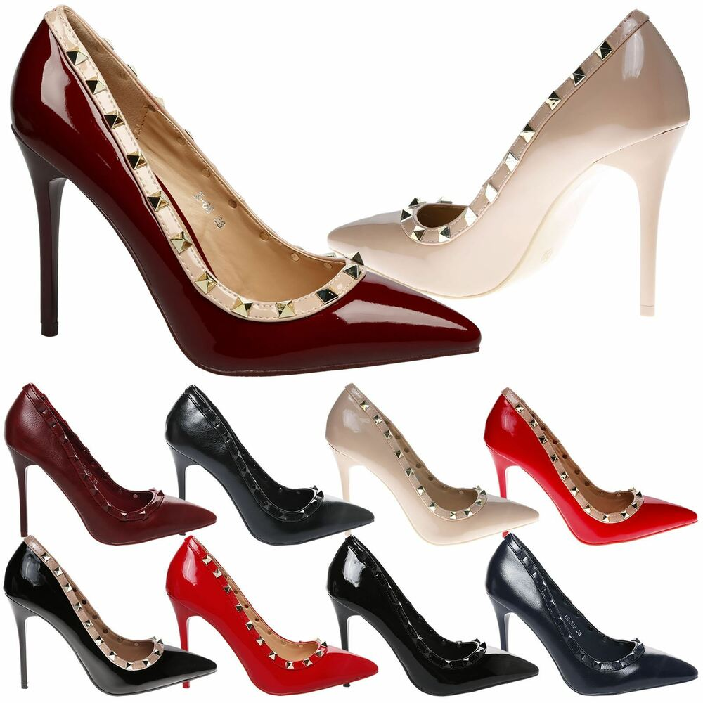 pointy toe pumps womens high heels stilettos pointed toe court shoes 30489