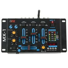 QFX MX-1 2-Channel Plus Professional Mixer +Bluetooth +USB Channel