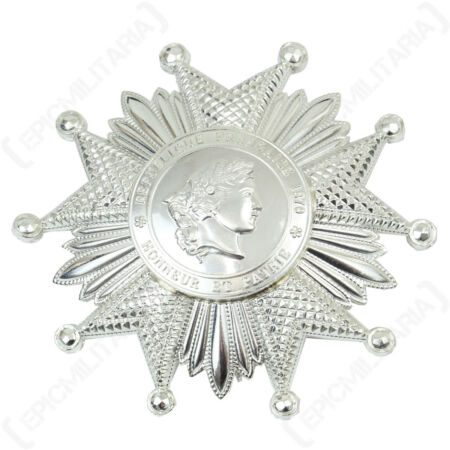 img-French LEGION OF HONOR Medal Silver Award Grand Officer Breast Insignia Badge