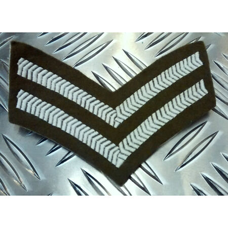 img-Genuine British Army Corporal Rank Stripes / 2 Chevrons / Badges / Patches - NEW