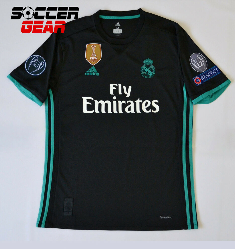 2d4a23eafa5 ... denmark real madrid away jersey black 1718 champions league 38acb 307da