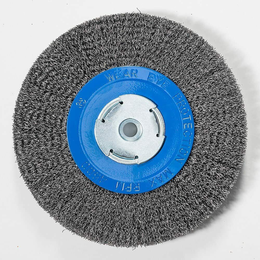 8 Quot Inch Crimped Wire Wheel For Bench Grinder 2 Quot 1 2 Quot Or