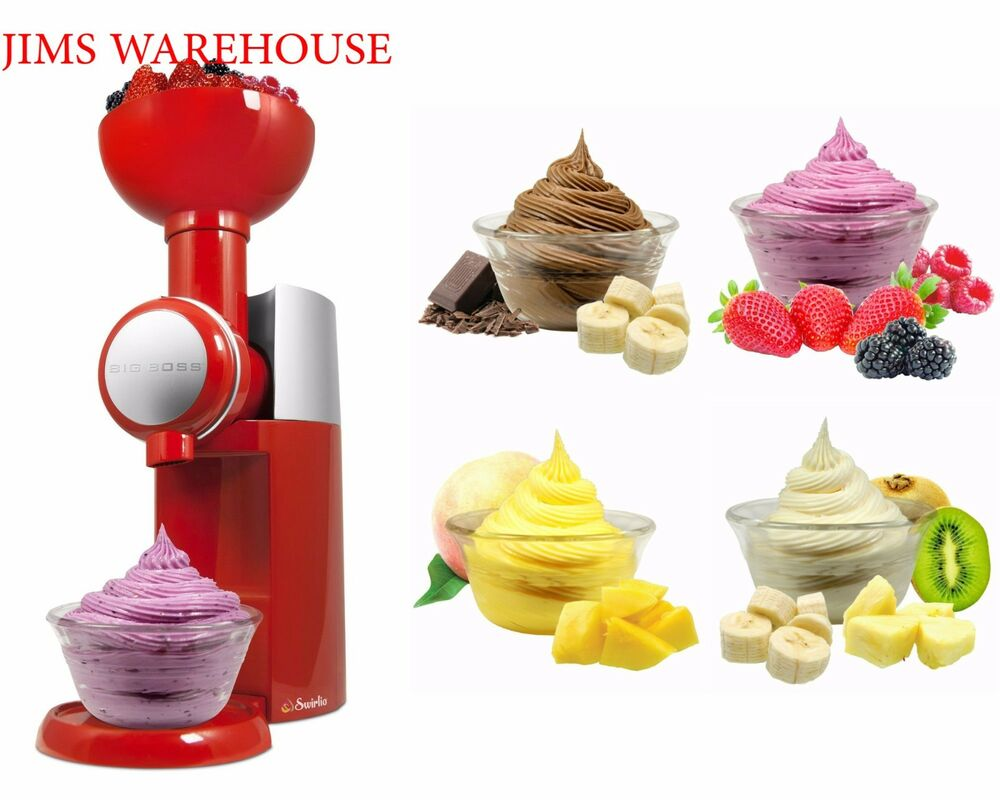 fr chte mixer maschine dessert maker soft dienen sorbet eis rezept ebay. Black Bedroom Furniture Sets. Home Design Ideas