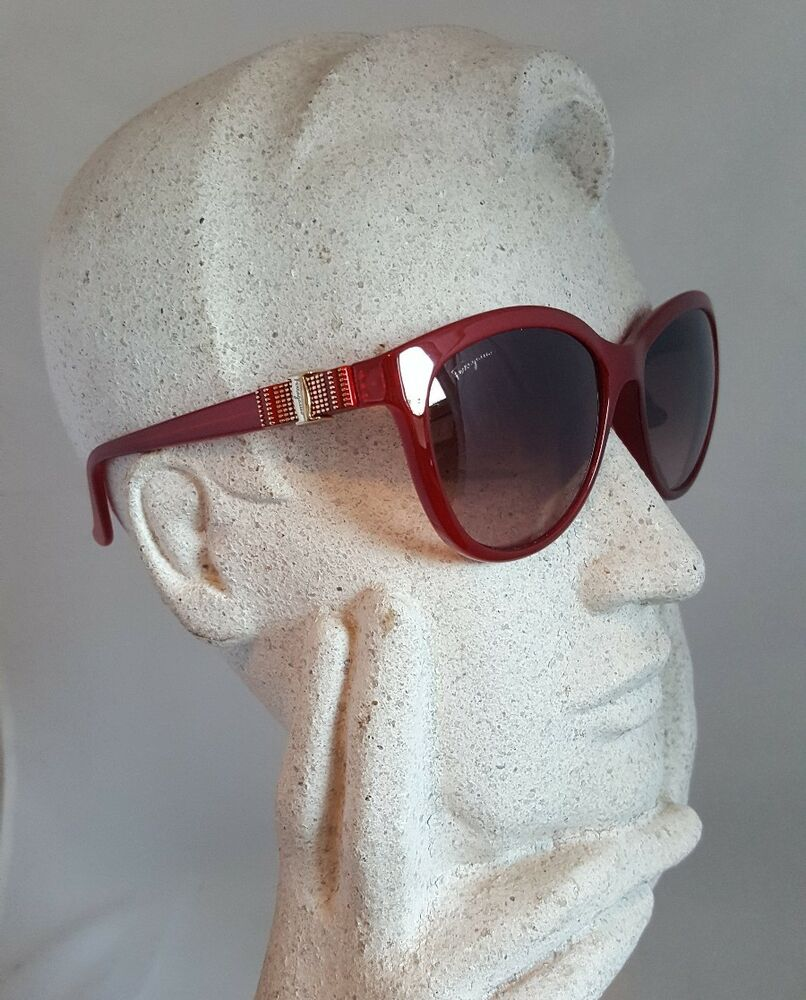 bed3b72666a Salvatore Ferragamo SF760S 613 Womens 57mm Red Brown Round Sunglasses SHIPS  FREE 886895216821