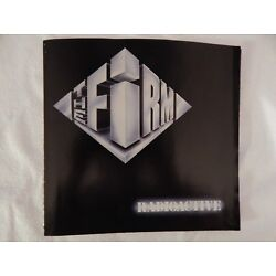 The Firm ''Radioactive'' PICTURE SLEEVE! BRAND NEW! NICEST COPY ON eBAY!!