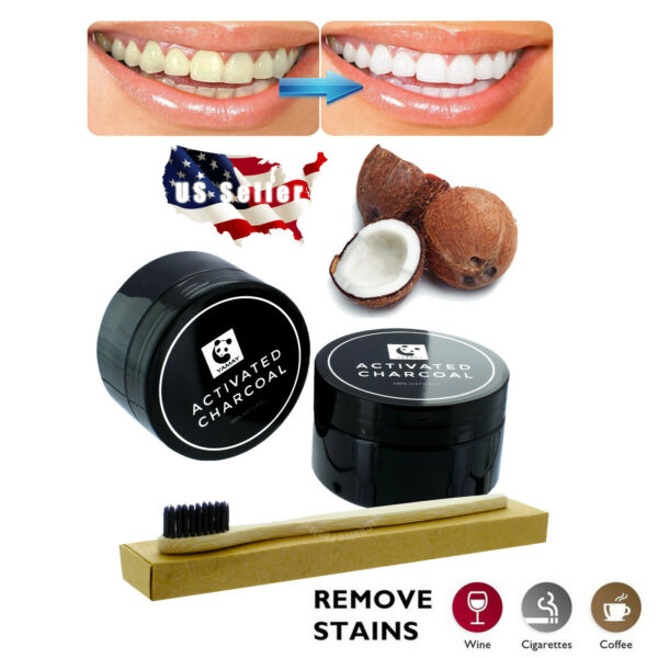 100% ORGANIC CARBON COCONUT ACTIVATED CHARCOAL COCO NATURAL TEETH WHITENING