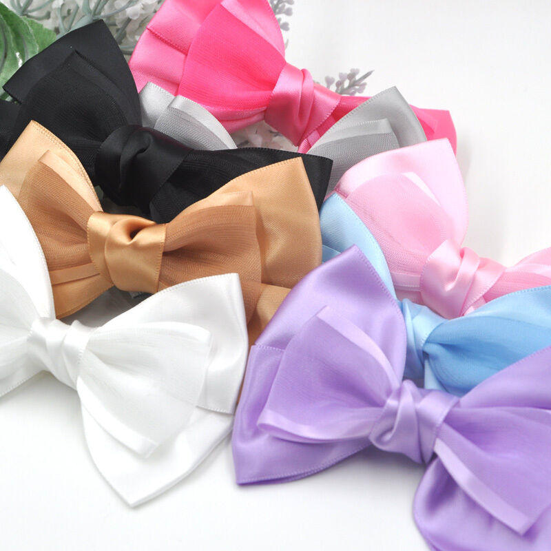 Details about 10 50pcs Big Organza Satin Ribbon Bows Flowers Sewing  Appliques 100x70mm A296 be4f97c8f4b2