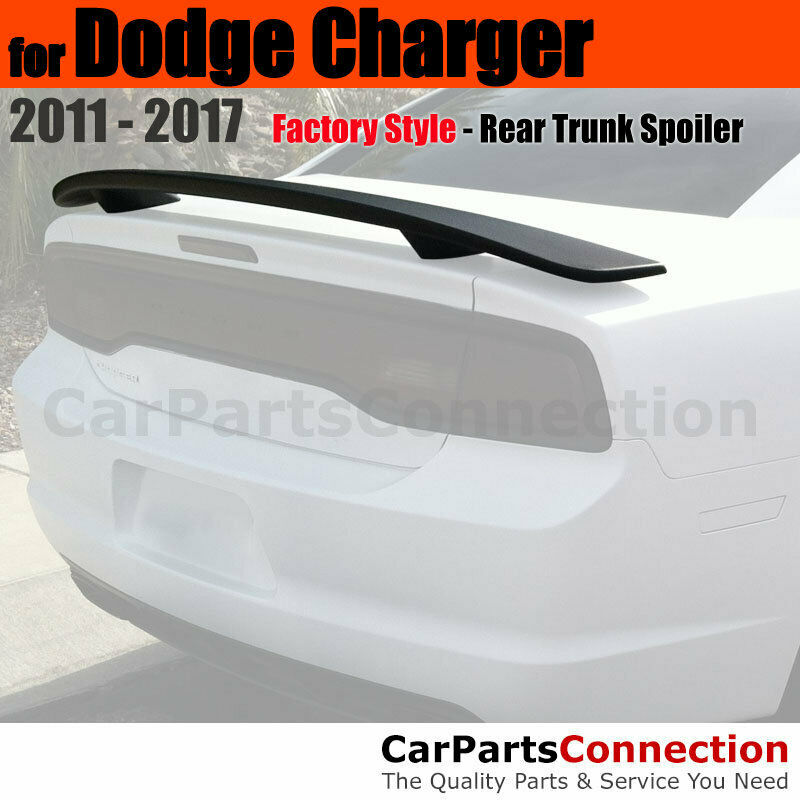 Painted ABS Rear Trunk Spoiler For 2011-2017 Dodge Charger 2 post PX8 BLACK
