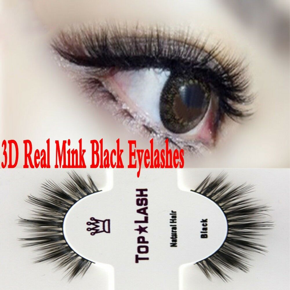 100real Mink Black Natural Fake Thick Eye Lashes False Eyelashes
