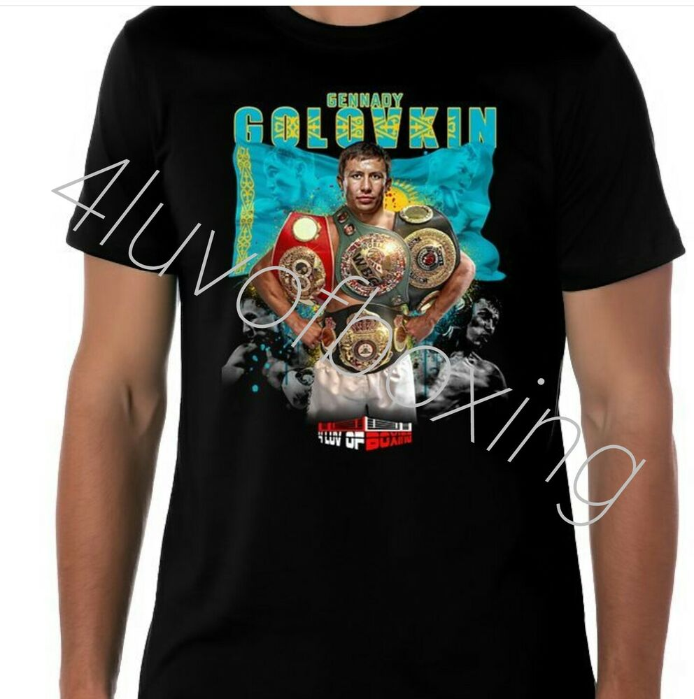 29ec7e860c89 Details about Gennady Golovkin Boxing T Shirt Apparel GGG 4LUVofBOXING New  BK tee Triple G