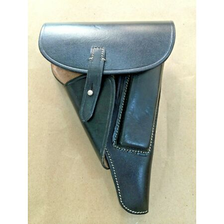 img-GERMAN WWII P-38 P38 SOFT-SHELL HOLSTER: BLACK (Repro)