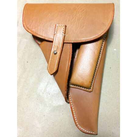 img-GERMAN WWII P-38 P38 SOFT SHELL HOLSTER: MID-BROWN (Repro)