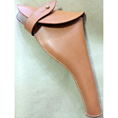 img-WWI & WWII BRITISH .455 WEBLEY REVOLVER LEATHER HOLSTER - Reproduction