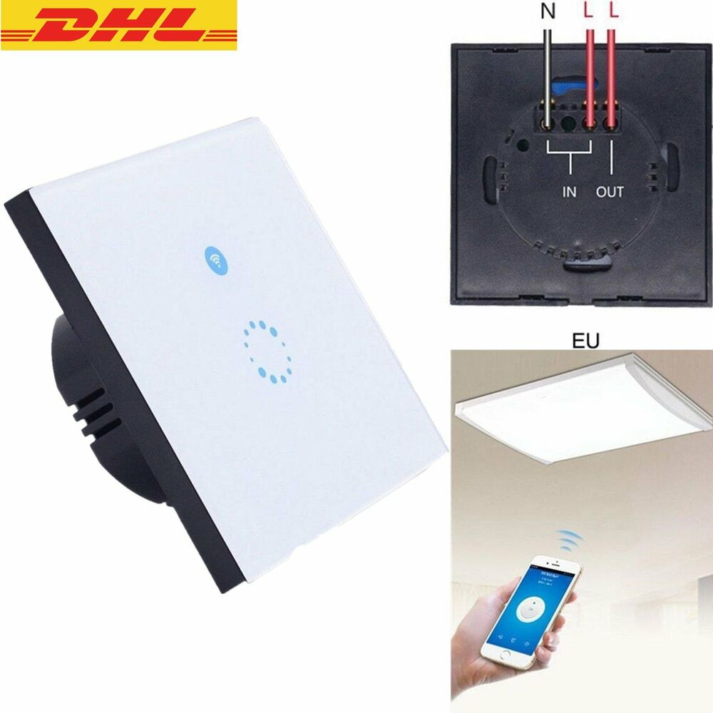sonoff touch wifi schalter smart home automation lichtschalter wandschalter dhl ebay. Black Bedroom Furniture Sets. Home Design Ideas