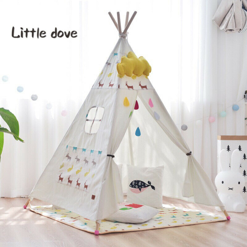 tipi kinderzelt spielzelt zelt indianer indianerzelt kinderzimmer spielzimmer 651650239960 ebay. Black Bedroom Furniture Sets. Home Design Ideas
