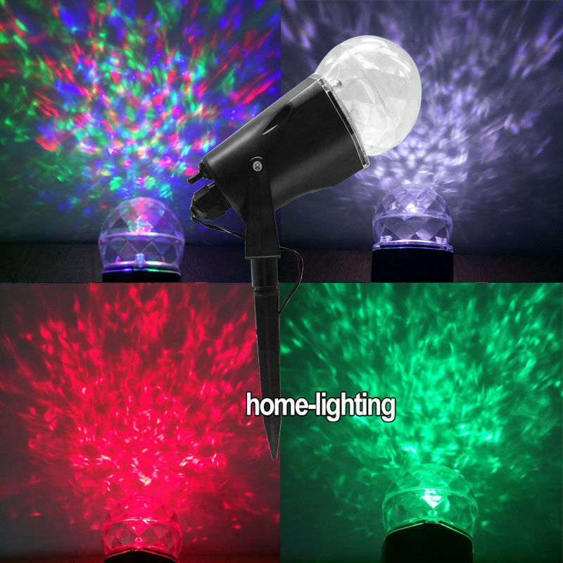 Details About Water Wave Style Led Laser Projector Lights Christmas Festival Outdoor Lighting
