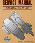 1990 TO 1997 HARLEY-DAVIDSON SIDECAR SERVICE MANUAL -NEW-TLE-RLE-TLR-SIDECARS