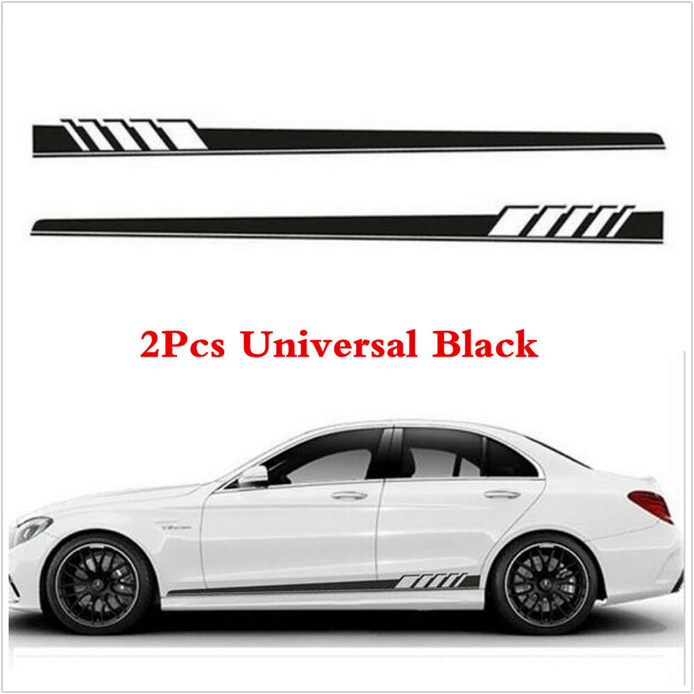 Details about car graphics side body vinyl decal sticker sports racing race long stripe decals