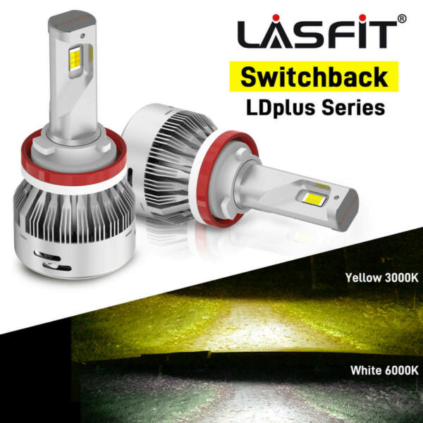 LASFIT H11 LED Headlight 6000K Low Beam Bulbs for LEXUS ES350 IS250 CT200h RX330