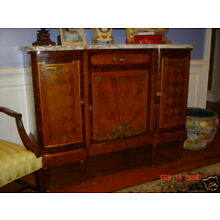 Antique French marble console/sideboard-amazing wood!!