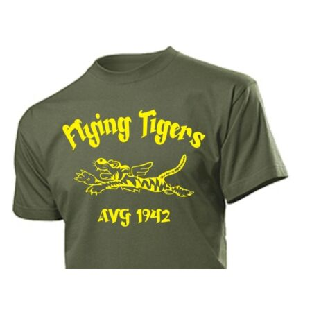 img-T-Shirt Flying Tigers AVG China 1942 Airforce Pilots USAAF USN USMC WK2 Gr 3-5XL