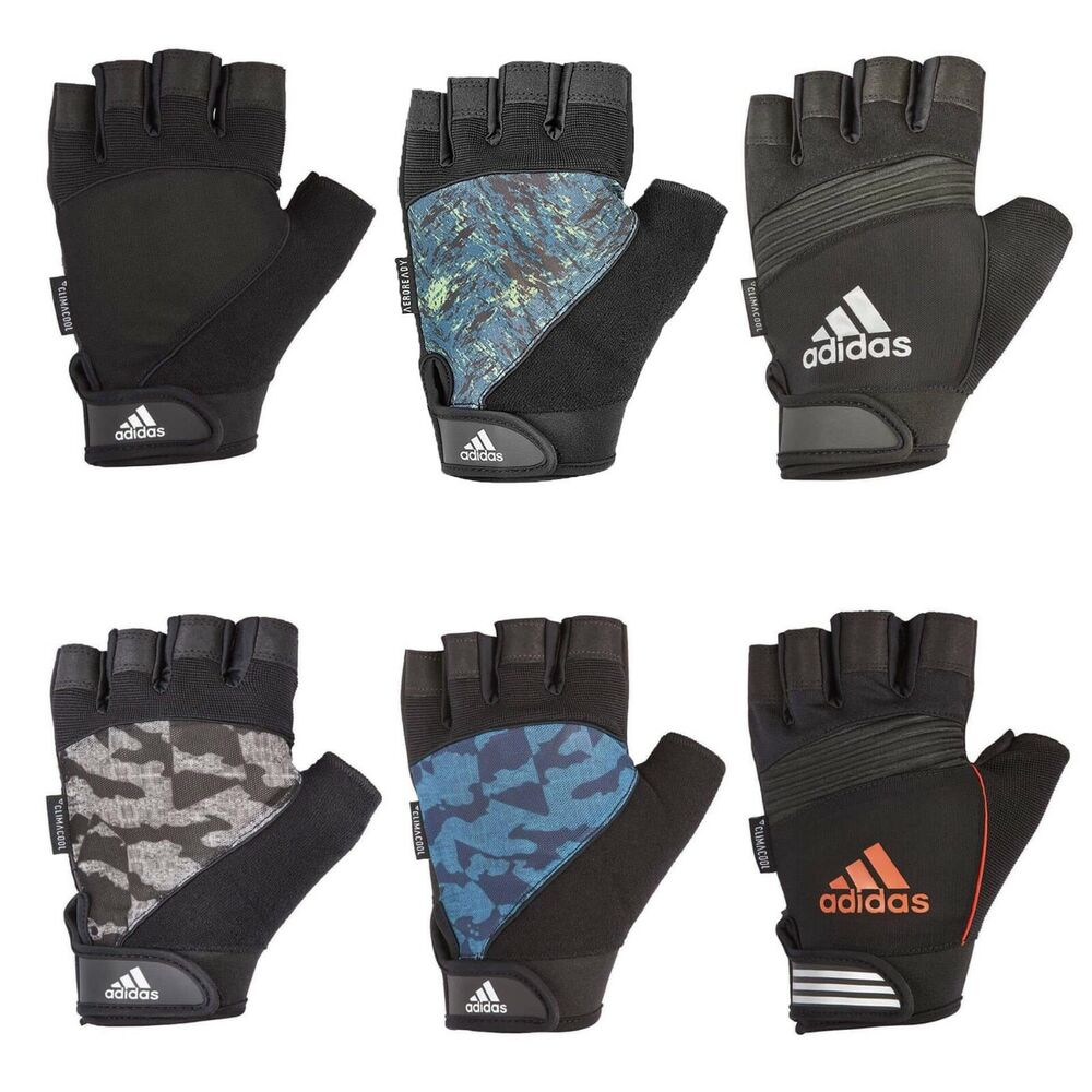 Adidas Long Finger Performance Gloves Weight Lifting: Adidas Mens Half Finger Performance Weight Lifting Gloves