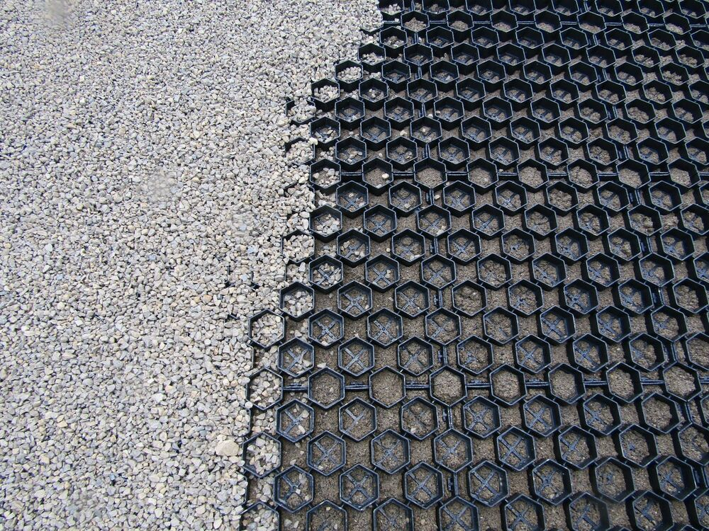 Drainage Gravel Cell : Ground reinforcement grid system gravel grass paving shed